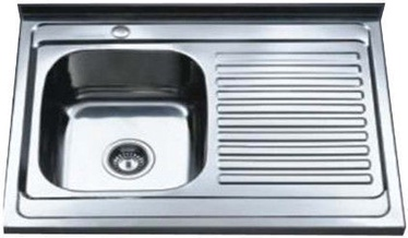 Tredi DM-8060 Stainless Steel Right 800x600mm