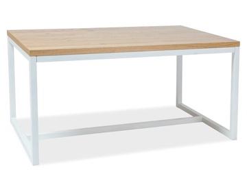 Pusdienu galds Signal Meble Loras Oak/White, 1200x800x770 mm