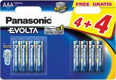 Panasonic LR03EGE Evolta 4+4 x AAA Batteries