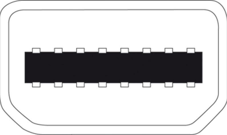 Assmann Adapter Cable Displayport-mini / DVI-D White 3m