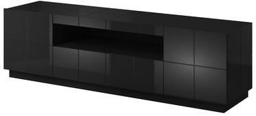 ТВ стол Cama Meble Reja, черный, 1840x450x575 мм