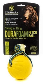 Rotaļlieta sunim Starmark Swing 'n Fling DuraFoam Fetch Ball L Yellow