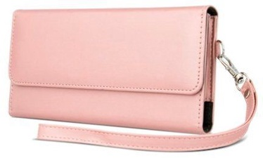 Mocco Universal Wallet Pouch Case For 6.0'' Mobile Phones Rose Gold