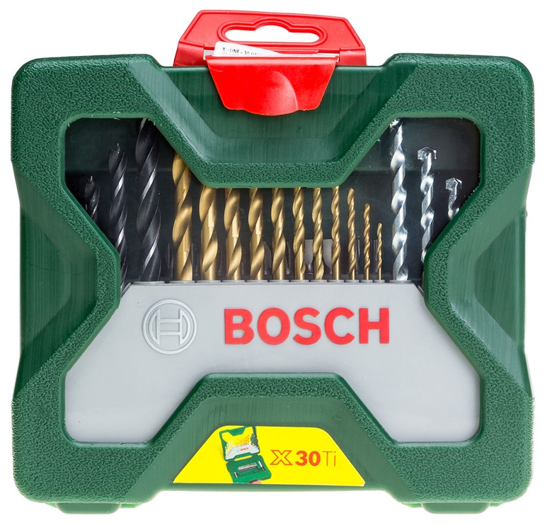 Bosch X 30 Ti urbji un uzgaļi komplekts ir 30 gab.