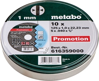 "Metabo ""SP"" 125x1x22.23mm Cutting Disc 10pcs"