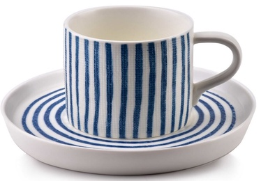 Mondex Navy Cup And Saucer 225ml