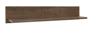 Black Red White Balin Wall Shelf Dark Oak