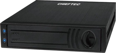 Chieftec ATM-1322S-RD 3.5'' Bay for 2x 2.5'' SATA HDD Aluminium