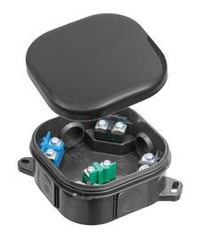 Монтажная коробка для открытого монтажа Pawbol, пластик, 92 мм x 92 мм
