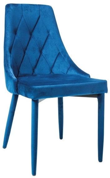 Ēdamistabas krēsls Signal Meble Trix Blue, 1 gab.