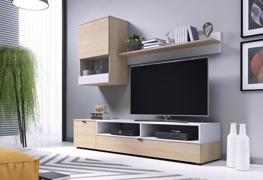 Halmar Snap Living Room Wall Unit Set Sonoma Oak/White Matt