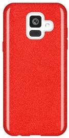 Wozinsky Glitter Shining Back Case For Samsung Galaxy A6 Red