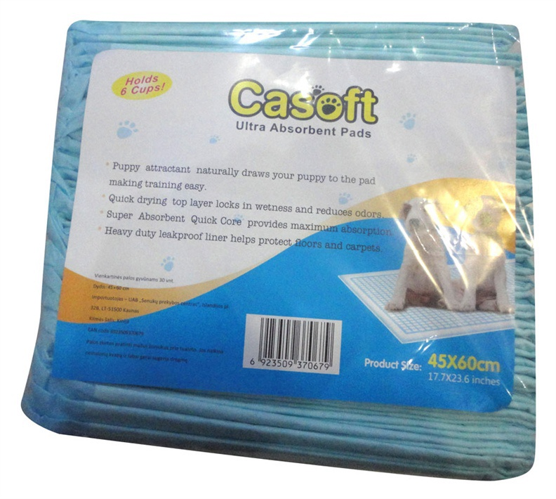 Vienreizēja suņu tualete Casoft Ultra Absorbent Pads 45x60cm 30gab.