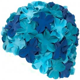 Шапочка для плавания Aqua Speed Bloom 05/105, синий/голубой
