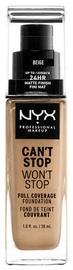 Tonizējošais krēms NYX Can't Stop Won't Stop CSWSF11 Beige, 30 ml