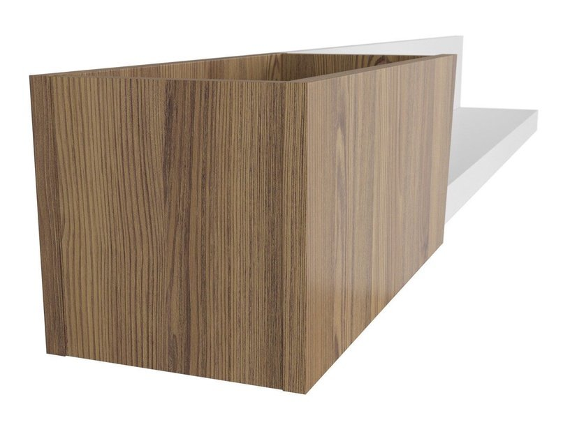 Black Red White Rauma Wall Shelf White/Sibiu Larch