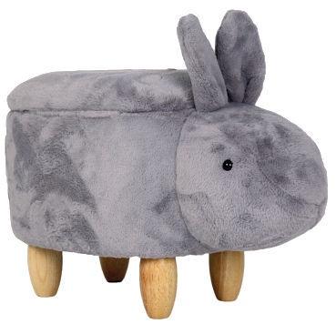 Pufs Signal Meble Rabbit Kryzs Grey, 63x34x38 cm