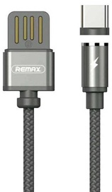 Remax Gravity Magnetic USB To USB Type-C Cable With LED Light 1m Black