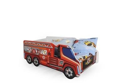 Bērnu gulta Halmar Fire Truck, 148x74 cm