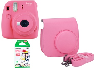 Fujifilm Instax Mini 9 Flamingo Pink + 10SH Pack + Case
