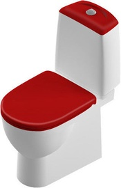 Tualete SANITA Lux Best Red Duroplast Soft Close White, 340x640 mm