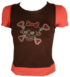 Bars Womens T-Shirt Brown/Pink 101 M