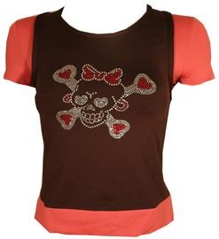 T-krekls Bars Womens T-Shirt Brown/Pink 101 M