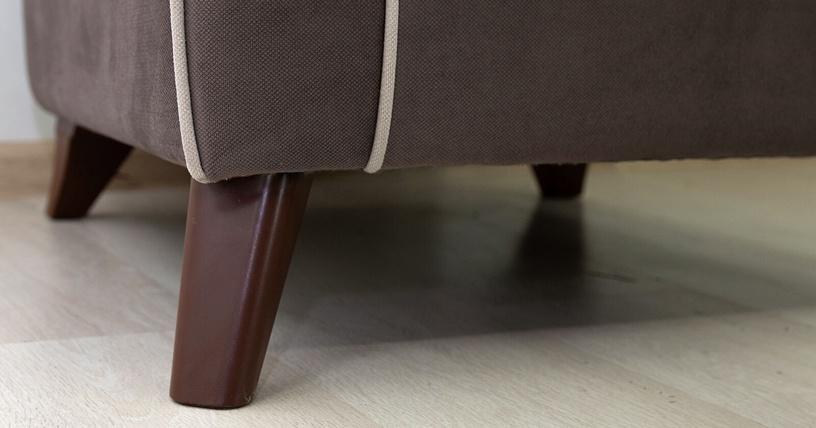 Atzveltnes krēsls Nik Mebel Frensis TK 261, brūna, 75x87x89 cm