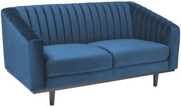 Dīvāns Signal Meble Asprey 2 Velvet Blue/Wenge, 150 x 60 x 78 cm