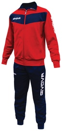 Givova Visa Tracksuit Red Navy M