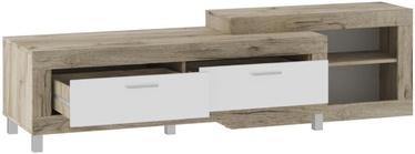 ТВ стол Tuckano Ultra Oak/White, 1950x523x520 мм