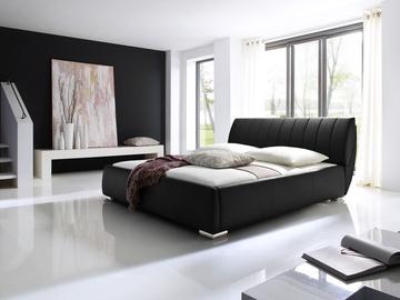 Кровать Meise Möbel Bern Black, 200x200 см, с решеткой