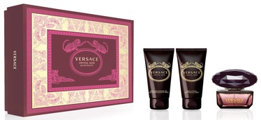 Komplekts sievietēm Versace Crystal Noir 50 ml EDT + 50 ml Shower Gel + 50 ml Body Lotion 2019
