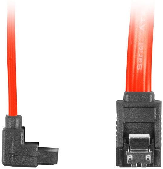 Lanberg SATA To SATA Angled Red 0.3m