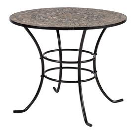 Садовый стол Home4you Mosaic 38668, черный, 90 x 90 x 70 см