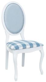 Ēdamistabas krēsls Signal Meble LV-SC White/ Light Blue