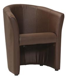 Atzveltnes krēsls Signal Meble TM-1 Dark Brown, 67x47x76 cm