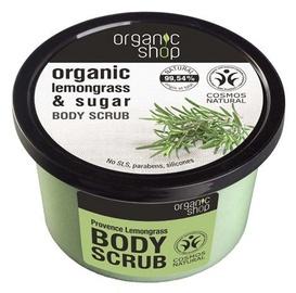 Ķermeņa skrubis Organic Shop Provence Lemongrass, 250 ml