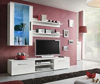 Dzīvojamās istabas mēbeļu komplekts ASM Galino E White/White Gloss