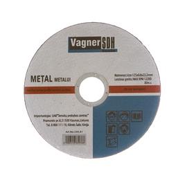 Disks metāla griešanai, izmērs 125x0.8x22 mm, 200.81 (Vagner SDH