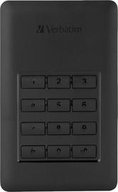 Cietais disks Verbatim Secure G1, HDD, 256 GB, melna