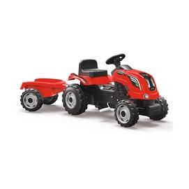 Bērnu traktors ar piekabi Smoby Farmer XL, sarkans 7600710108