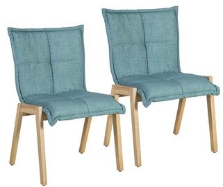 Стул для столовой Home4you Razor Blue, 2 шт.