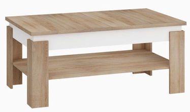 MN Boston Coffee Table Sonoma Oak/White