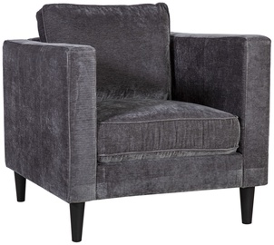 Atzveltnes krēsls Home4you Spencer Dark Gray, 81x86x86 cm