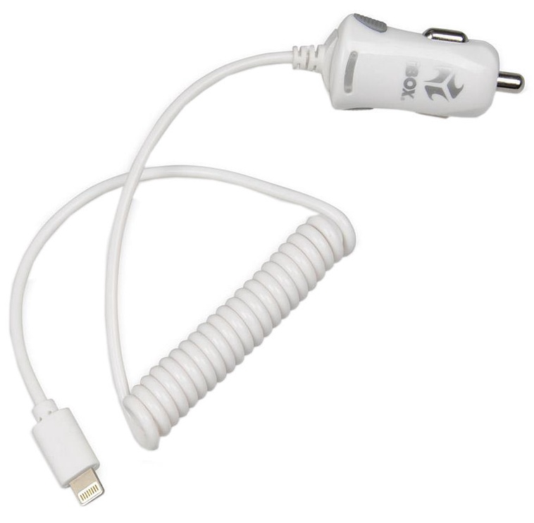iBOX C-15 Apple Lightning Car Charger White