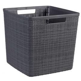 Корзина для белья Curver Jute Square Basket 17l Dark Gray