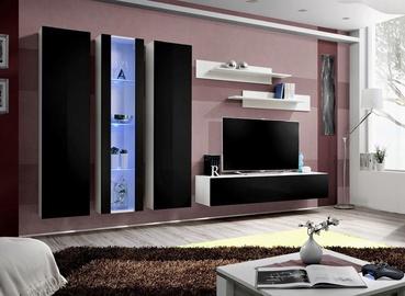 Dzīvojamās istabas mēbeļu komplekts ASM Fly C4 Black/White