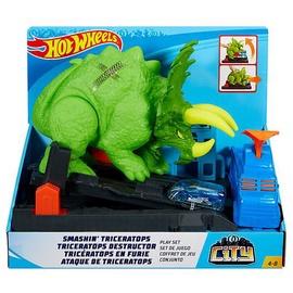 Mattel Hot Wheels Smashin Triceratops Play Set GBF97