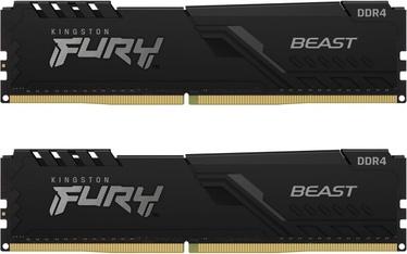 Оперативная память (RAM) Kingston FURY Beast, DDR4, 16 GB, 3600 MHz